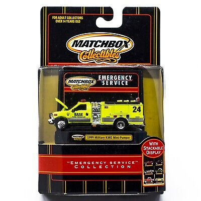 Matchbox Emergency Service Collection 1999 Military KME Mini-Pumper Fire Truck