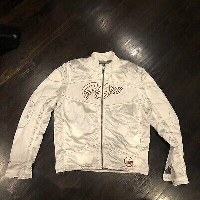 G-Star Raw White Biker Jacket Size: M