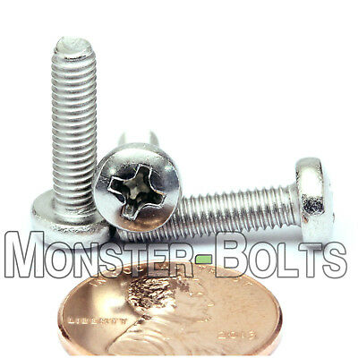 M4 X 16mm Stainless Steel Phillips Pan Head Machine Screws Cross Recessed A2