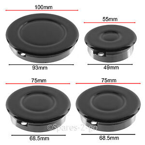 Burner cap parts accessories ebay complete cooker oven gas hob burner flame cap crown kit x 4 small medium large fandeluxe Choice Image
