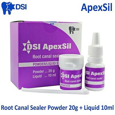 Dsi Dental Apexsil Root Canal Filling Sealant Sealer Radiopaque 20g 10ml