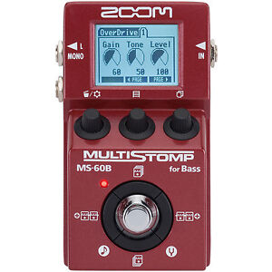 Zoom MS-60B MultiStomp Bass Guitar Pedal MS60B Multi-Effects Stomp Box MS 60