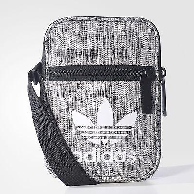 792381ca37cc adidas mini shoulder SMALL messenger bag (BLACK GREY) 100% genuine!