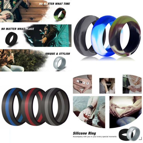 1PC Camouflage Silicone Wedding Ring Men Women Rubber Engage