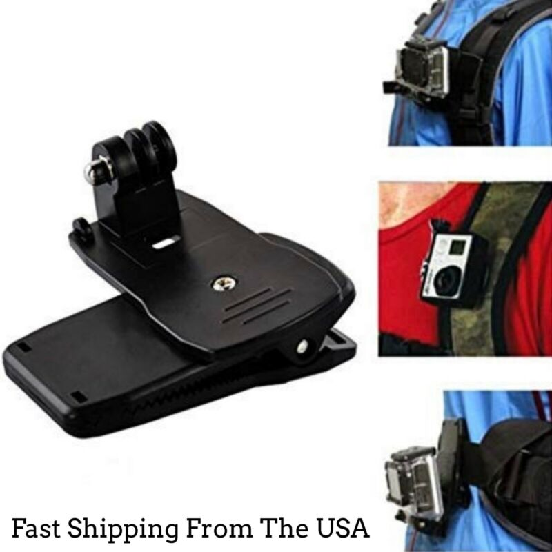360 Quick Backpack Clip Clamp Mount For GoPro Hero7/6/5/4/Session SJ9000