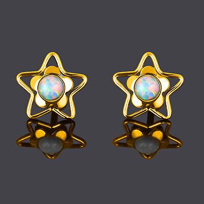 Star Cartilage Earring Stud - 2pcs Stainless Steel Opalite Star Ear Stud Earring Cartilage Helix Tragus Studs