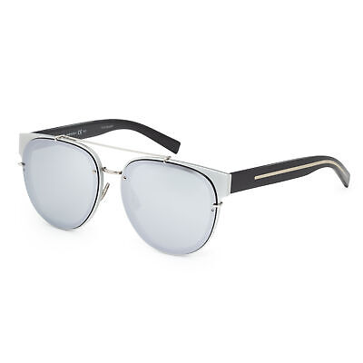 Dior Homme Black Tie BLACKTIE143SA-002S-DC Men's 56 Sup Silver Mirror (Dior Homme Sunglasses)