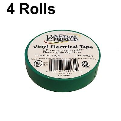 4 Rolls Of Green Electrical Tape 34 X 66ft Trailer Rv Wires Lavanture