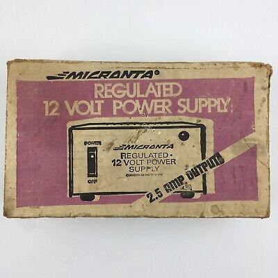 Micranta Regulated 12 Volt Power Supply Cat. No. 22-124a