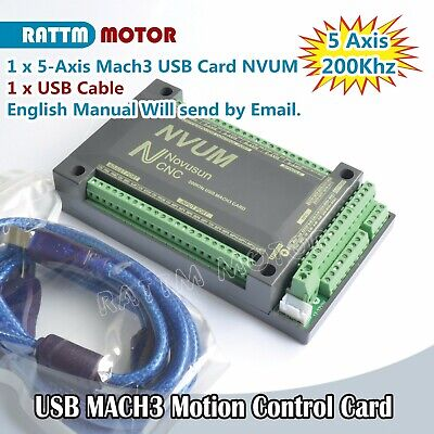 5axis Usb Mach3 Nvum Cnc Controller Interface Controller Board Card Vision2 2019