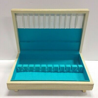 NICE - Vintage Flatware Silverware light Wood Storage Box Chest Anti-Tarnish -
