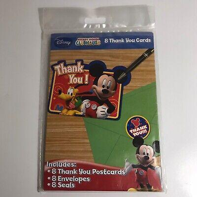 Mickey Mouse Thank You Cards (NIP Disney Mickey Mouse Clubhouse 8ct. Thank You Post Cards w/ Envelopes &)