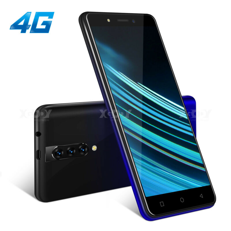 "Android Phone - XGODY 4G LTE Android 9.0 Smartphone Unlocked Dual SIM 16GB 5.5"" Mobile Phone GPS"