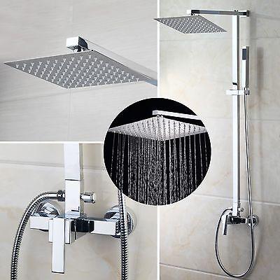 Neu Badezimmer Dusche Wasserhahn Set mit Niederschlag Handbrause Kopfbrausen (Dusche Kopf Wasserhahn Set)