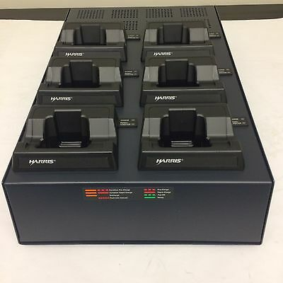 Harris Corp. P5300 Tri-chem 6 Bay Nicd Nimh Multi Radio Charger Ch-104570-077