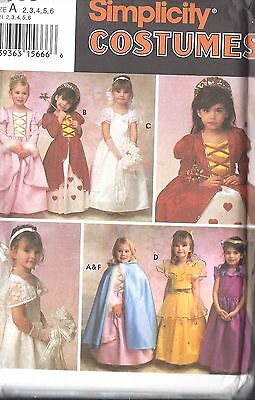 UNCUT Vintage Simplicity Sewing Pattern Little Girl Dress Veil Cape Costume 9089