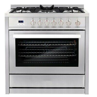 36 in. 3.8 cu. ft. Single Oven Gas Range with 5 Burner Cookt