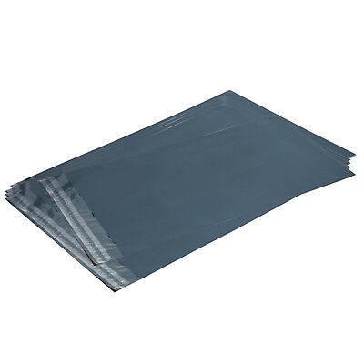 12x Strong Grey Plastic Mailing Bags Poly Postage Self Seal Envelopes 5x7""