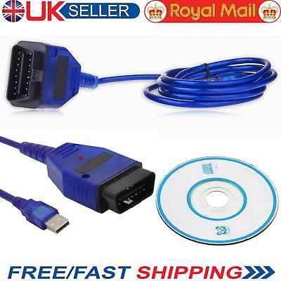 USB VAG-COM Cable KKL 409.1 OBD2 II OBD Diagnostic Scanner Audi/VW/Seat/Skoda UK for sale  Barking