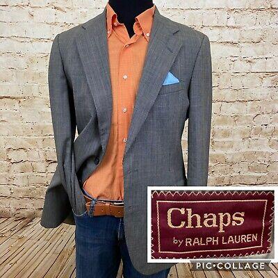 CHAPS Ralph Lauren Vintage Wool Blazer Men's Sport Coat Jacket 40R Glen Plaid