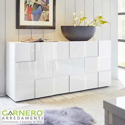Madia DAMA 3 ante credenza moderna laccato bianco lucido design casa soggiorno
