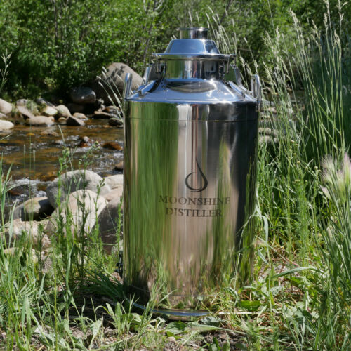 """Stainless Steel Milk Can Distilling Boiler - 13 Gallon, 2""""/3""""/4"""" Lid Available"""