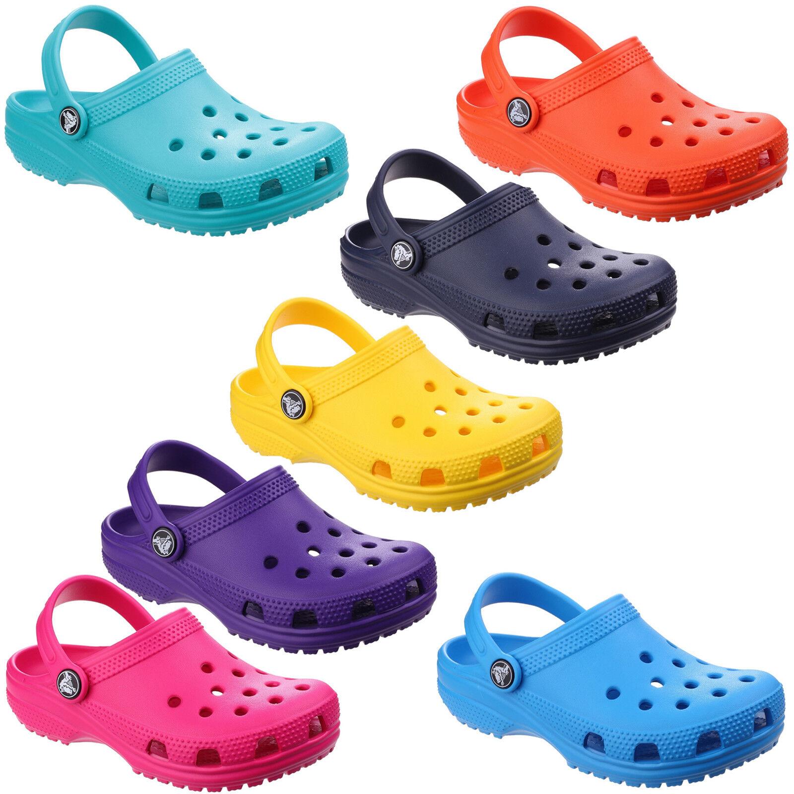 Crocs Girls Classic Kids Croslite Slingback Beach Clog Yellow
