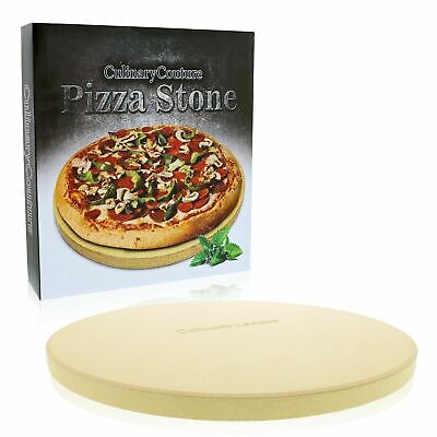 Round Pizza Stone for Grill and Oven Thick Baking Stone Cooking Grilling BBQ
