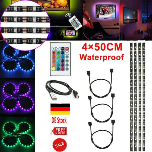 LED Backlight TV Hintergrundbeleuchtung USB Lichtstripe 2M Streifen RGB PC-Band