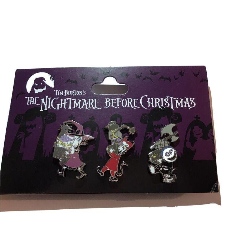 Disney Parks Nightmare Before Christmas Lock Shock Barrel NBC 3 Pin Pins Set