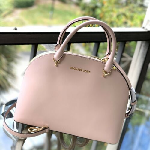NEW Michael Kors 35H9GY3S3L Emmy LG Dome Leather Satchel Pur