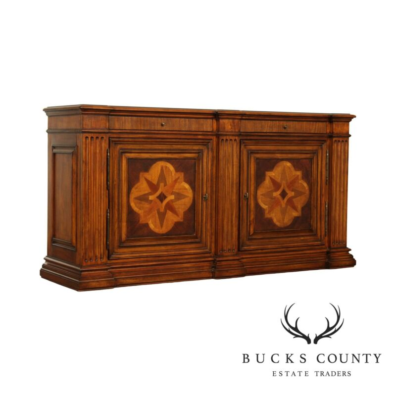 Ethan Allen Marquetry Inlaid Lombard Sideboard