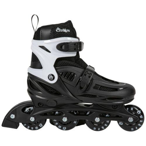 Awaken Adjustable Size Inline Roller Skates Kids Youth Boys Girls Youth (Black)