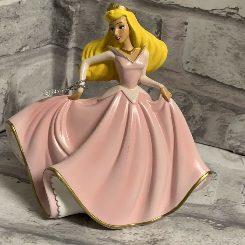 Disney Sleeping Beauty Figurine Mirror Collection Bradford 4th Issue A1213 Pink