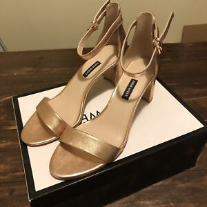 9ead5f97ca9d Size 9 Size 40 Rose Gold Nine West Strappy Sandal Heal