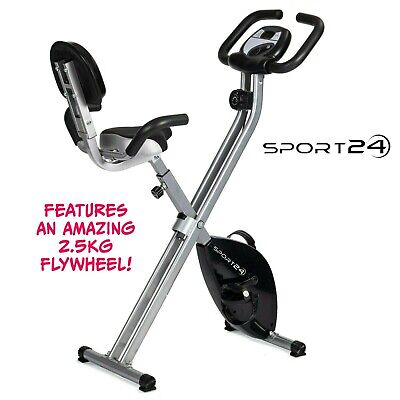 Exercise Bike Folding Fitness Cardio Machine Workout Bicycle Home Gym Cycle
