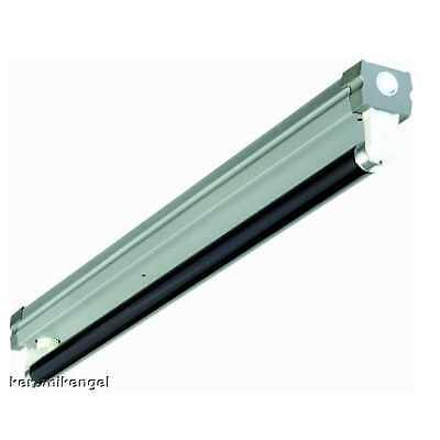 18W Leuchte Lichtleiste silber mit Schwarzlicht Leuchtstoffröhre Neonröhre UV (Leuchtstoff Schwarz Licht)