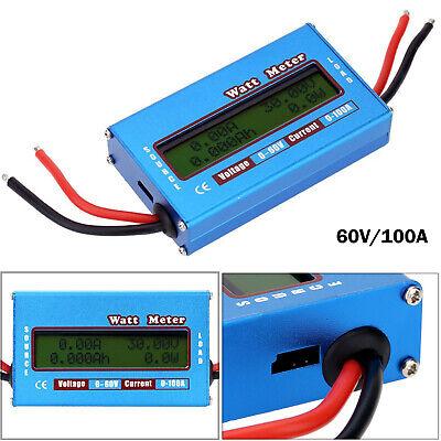 Digital Lcd Battery Watt Meter Voltage Amp Backlight Monitor Power Analyzer New
