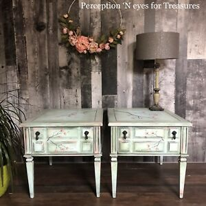 Refinished antique side tables / end tables