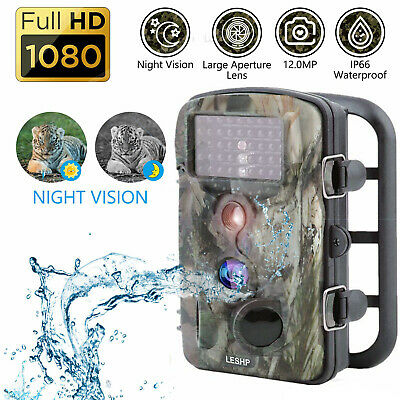 12MP 1080P Hunting Trail Camera Video Wildlife Scouting Monitoring Night lY