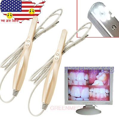 2pc Dental Intraoral Camera Oral Digital Imaging 6 Led Usb 2.0 4 Mega Pixels Cam
