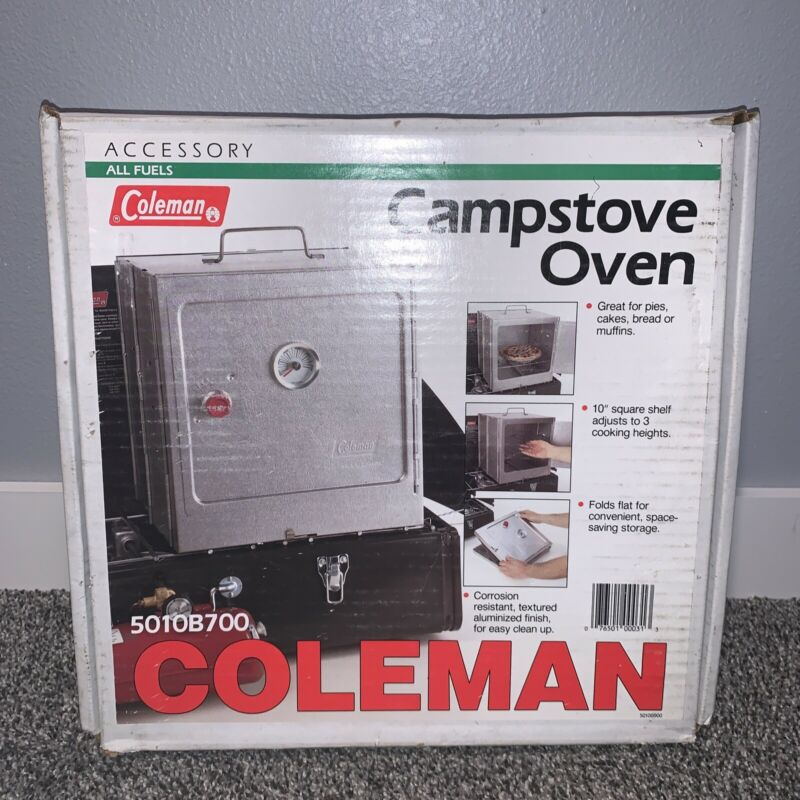Vintage Coleman Folding Camp Oven in Box Model 5010B700
