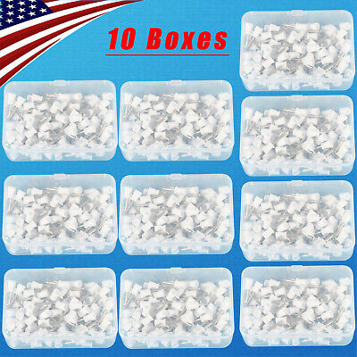 100-1000 Dental Polishing Polisher Prophy Angle Cups Latch Tooth Brush White Dno
