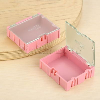 Pink Plastic Component Part Laboratory Storage Electronic Smt Smd Screw Box Case