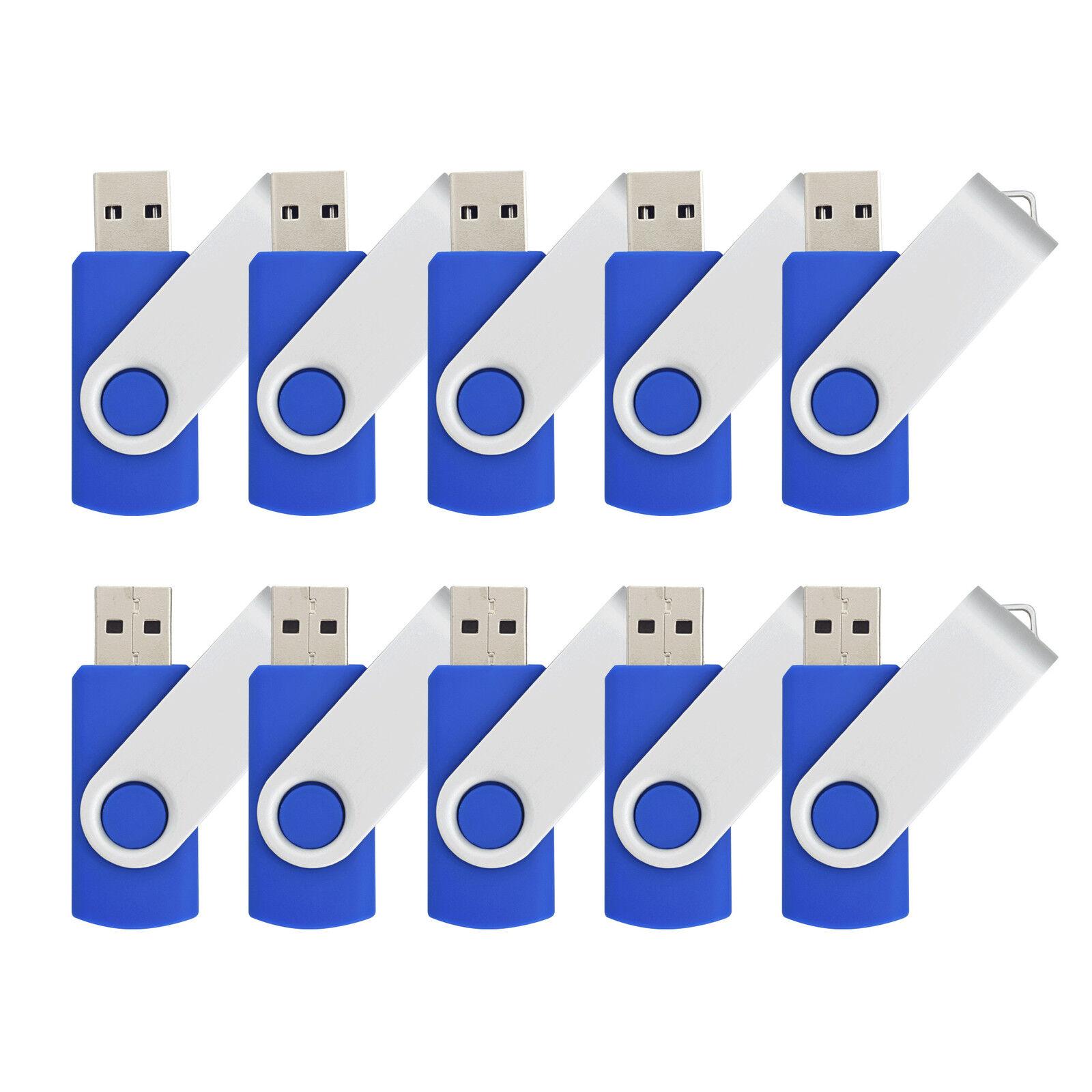 5PCS Rotating 2GB USB 2.0 Flash Drive Folding Enough Memory Stick Thumb Pen