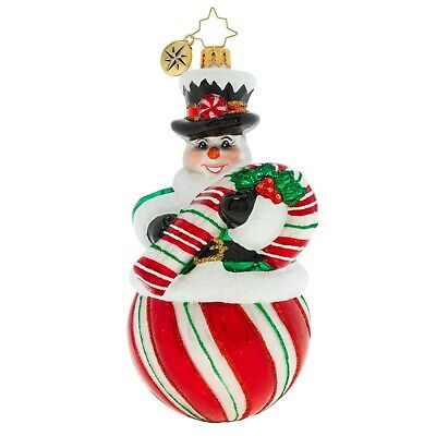 [NEW Christopher Radko THE CANDY (SNOW) MAN Christmas Ornament 1020158</Title]