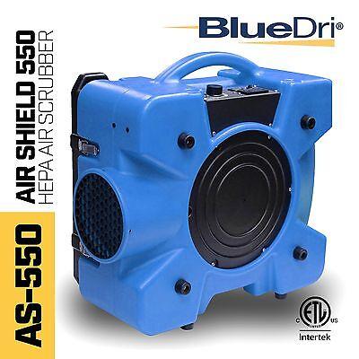 BlueDri™ Air Shield 550 AS-550 Hepa Negative Air Scrubber Purification Blue