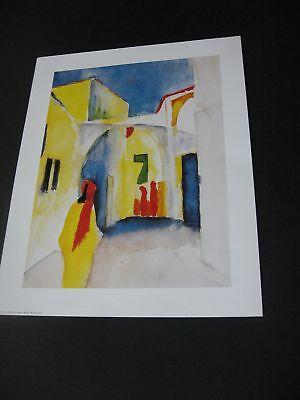"""August Macke """"Bazar, 1914"""" Neuer Kunstdruck,  24x 30 cm       (65)"""