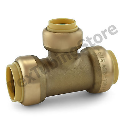 25 34 X 34 X 12 Sharkbite Style Push-fit Push To Connect Lf Brass Tees