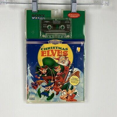 Vintage Sony wonder Christmas elves 16 page story book full color Audio cassette ()